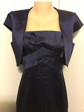 CALVIN KLEIN Navy Blue T-Strap Dress With Bolero Jacket Size 10
