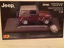 Maisto 2004 Jeep Wrangler Sahara Infrared Controlled Car 1/18 Diecast NIB