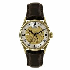 Men's Rotary Gold Plated Strap Wristwatches