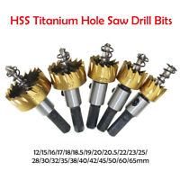 12-65mm HSS Drill Bit Hole Saw Tooth Set Stainless Steel Metal Alloy Cutter New
