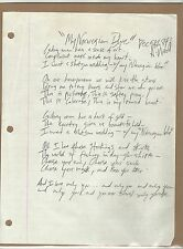 ANDREW WOOD Mother Love Bone HAND WRITTEN SIGNED and DATED LYRICS- PEARL JAM!!!