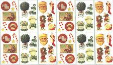 12 Sheets Frances Meyer Christmas XMAS Scrapbook stickers!  Santa Claus