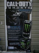 """Call Of Duty Ghosts Monster Energy Drink Stand Up Gaming Sign Warfare 70 """" Tall!"""