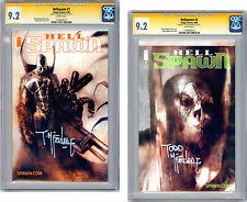 HELLSPAWN #1-2 CGC-SS 9.2-9.2 SIGNED BY TODD MCFARLANE BENDIS COVER & ART 2000