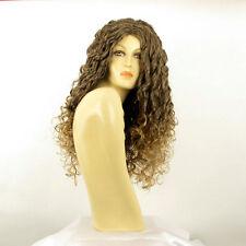 Perruque femme longue ondulée châtain méché doré EVA 6T24B