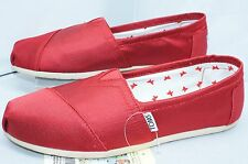 New Toms Women's Shoes Red Rowan Flats Slippers Size 5 Classics Moccasins