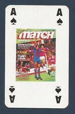 MATCH MAGAZINE-20 YEAR ANNIVERSARY COVER PLAYING CARD-HAMBURG-KEVIN KEEGAN-AS