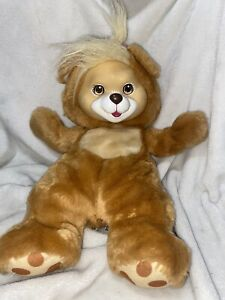 "Baby Cub Surprise Plush Stuffed Bear Brown Tan Hasbro 1992 VTG 13.5"" No babies"