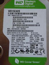 Western Digital WD15EADS-65P8B0 DCM: HHNNHT2MA | 17 JAN 2010 1,5TB disco rigido