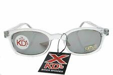 X KD's Sunglasses Original Biker Shades Clear Frame Mirror Lens Chill 1200