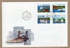 Sweden 2004 boats ships lighthouses sailing FDC
