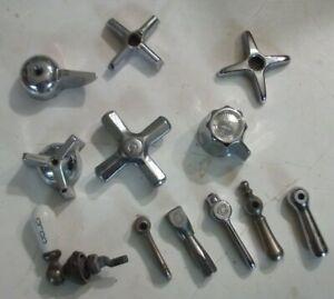 Vintage Faucet Handles - Chrome, LOT of 12