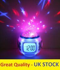 7 Colors Sky Star LED Night Light Projector Lamp Alarm Clock for Kid Bedroom