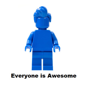 LEGO Blue Monochrome Minifigure from 40516 with Pompadour  - tls106