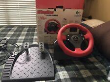 Logitech Wingman Formula Force Racing Steering Wheel w/ Gas Brake Pedals
