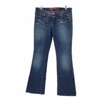 X2 Denim Laboratory Women's Denim Jeans Pants Size 31 Dark Wash Flare USA Made