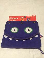 NEW WITH TAGS Zipit Googly 3 Ring Punch Pouch Purple