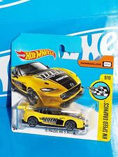 Hot Wheels 2017 Short Card Speed Graphics '15 Mazda MX-5 Miata Yellow VOLK