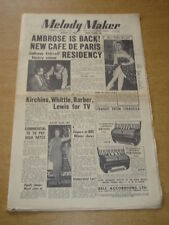MELODY MAKER 1955 AUGUST 27 AMBROSE CAB CALLOWAY KATHY LLOYD COMMERCIAL TV +