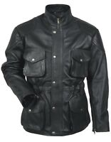 6116cd3dceb New York Police Men s Classic Style Black Real Anyline Hide Leather Jacket  Coat