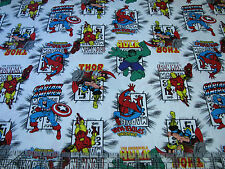 3 Yards Quilt Cotton Fabric- Camelot Marvel Avengers Immortals Comic Book Logo