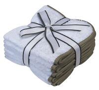 Hotel Collection 6 X White Face Cloths Towels 100% Cotton Flannels Wash Cloths