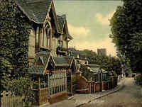 TAPLOW Village Street House Scence England Großbritannien Postcard ca. 1900-10