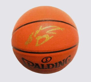 KOBE BRYANT AUTOGRAPHED NBA BASKETBALL SIGNED IN GOLD INK AMAZING DISPLAY PIECE