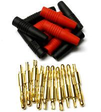 c0111 RC 4.0mm 4mm Connecteur Or connecteurs balle rouge et noir x 5 SET