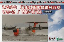 Platz 1/300 Scale JMSDF Search & Rescue Flying Boat US-2 (2 Kits) Kit No. PF-18
