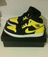AIR JORDAN I 1 Shoes Size 13 Men Athletic Love Black Yellow