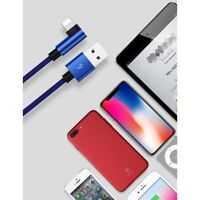 Elbow Premium USB Braided Fast Charger Charging Data Sync Cable For iPhone 7 8 X