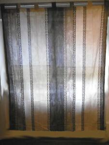 """Schlaufen Vorhang Gardine """" Ethno """" beige grau ca 177 x 131 cm 903445"""