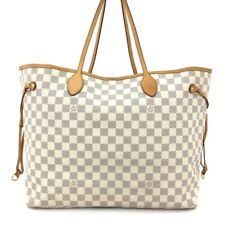 100% Authentic Louis Vuitton Damier Azur Neverfull GM Shoulder Tote Bag /40926