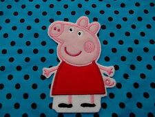 peppa pig large sew n iron on motif, patch, transfer.