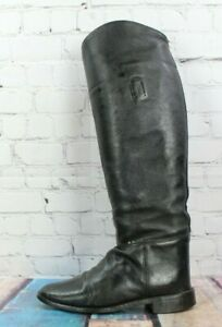 Unbranded Women's Black Leather Tall Riding Boots Size 7 W