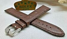 AUTHENTIC ROLEX BUCKLE OSTRICH LEATHER STRAP 18mm LUG
