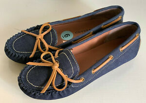 NEW! LUCKY BRAND ABELLE BLUE LOAFERS MOCCASINS SANDALS SHOES 6 36.5 $60 SALE