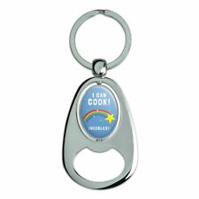 I Can Cook Noodles Shooting Star Funny Spinning Oval Bottle Opener Keychain