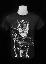Catwoman Movie Dark Grey Punk Rock Crew 100 Soft Cotton Tee T Shirt Size