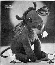 1940's FERDINAND / BULL - COPY toy knitting pattern