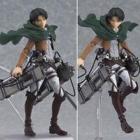 Attack on Titan Levi Shingeki No Kyojin Anime Figma Captain Action Figure Toys
