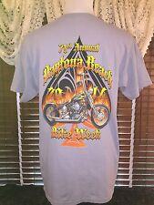 Men's VGUC GILDAN M Medium Gray 73rd Annual Daytona Beach Bike Week 2014 T-Shirt