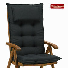 6 Premium Auflagen 9 cm dick mit Kopfkissen Sessel Kissen Sitzkissen Stuhlkissen