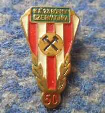 GORNIK CZERWIONKA 50 ANNIVERSARY /1923-1973/ POLAND FOOTBALL TABLE TENNIS PIN