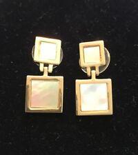 St. John Gold Square Earrings