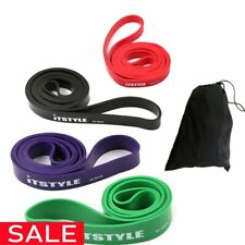 "41"" Resistance Bands 208cm Fitness Rubber Pull Up Crossfit Power latex Expander"
