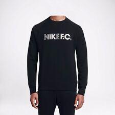 NIKE F.C. CITY CREW MEN'S SWEATSHIRT HEAVYWEIGHT WARMTH BLACK SIZE M L XL BNWT