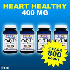 CoQ-10 400mg 800 Capsules Coq10 Co Q10 Coenzyme Anti Aging Cardiovascular 4 Pack