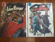 Dell Comics Pair - The Lone Ranger #94 and #95 - April and May 1956 - Used